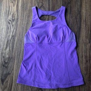 Lululemon purple back cutout tank size 10
